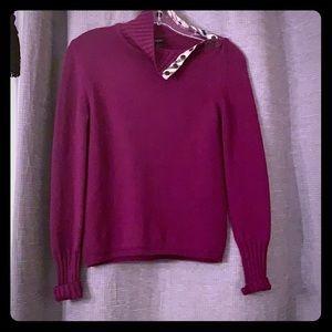 Women's 100% merino Burberry sweater.